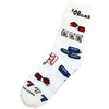 Las Vegas Gaming Icons on a White Background Sock
