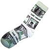 White Background Money design Las Vegas Sock Souvenir