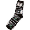 Black Background Money design Las Vegas Sock Souvenir