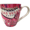 Las Vegas ceramic oversized coffee mug with a pink girl's night out design and the Las Vegas Welcome sign.