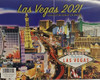 2021 Las Vegas Souvenir Collector Calendar with various pictures of Las Vegas scenes.