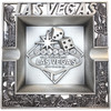 Metal Las Vegas Ashtray w/Welcome Sign