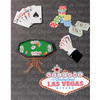 Hand embellished with 3D stickers and Pop Out items decorate this Poker Hand Photo Album cover.