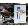 Glass Las Vegas Picture Frame Gray Skyline Design