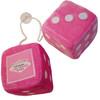 Hot Pink Plush Dice Pair. Las Vegas as the one pip.