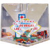 """Cut Corner"" Paperweight/Snowglobe/Pencil Holder Las Vegas Souvenir"