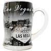 Clear Glass Souvenir Las Vegas Mug Black & White design - 12oz.