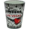 Red & Gray Shotglass- Souvenir Las Vegas