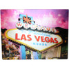 Hologram Magnet Las Vegas Souvenir with Pink Sky and Las Vegas Sign