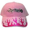 Las Vegas Souvenir Pink Flames Baseball Cap