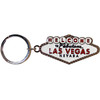 White metal Las Vegas Sign Keychain.