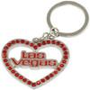 Red Rhinestone out line shape Las Vegas Heart key chain.
