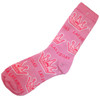Pink Sock with Princess Crown and Las Vegas repeating all over it.