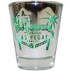 Silver Sign Las Vegas Shotglass- GREEN