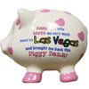 3-D pig shape white with pink dots Las Vegas savings bank.