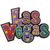 "Colorful ""Las Vegas"" word rubber cutout Magnet."