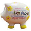3-D pig shape white with Yellow Flower dots Las Vegas savings bank.