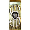 Golden Blackjack Las Vegas Souvenir Money Clip