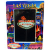 Las Vegas Metallic Collage Frame showcasing the Beautiful Las Vegas Casinos in full color for a pop of contrasting elements.