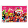 Las Vegas Spark Design Playing Cards- pink background- clear plastic storage box