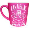 "Awesome Pink Las Vegas Souvenir Mug- ""Whisky Design"", left view."