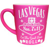 "Awesome Pink Las Vegas Souvenir Mug- ""Whisky Design"", left view."