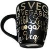 Las Vegas Black Foil Typography 12oz Taper Mug