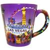 Las Vegas Purple Skyline Cone Mug