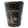 Gray Skyline Las Vegas Shotglass