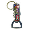 Metal Tool Las Vegas Key Chain with bottle opener, wine opener, and utility knife.