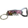 Metal Tool Las Vegas Key Chain with bottle opener, wine opener, and utility knife.