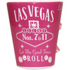 Pink Whisky Las Vegas Shot glass with spinning dice