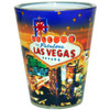 Las Vegas Stars Glitter Shot Glass