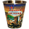 This Tin-Stainless Steel Las Vegas Shotglass has our Star design on it. Features Las Vegas Casinos on a Starry evening skyline.