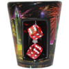 Firework Spinning Dice Shot Glass