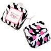Zebra Print Plush Dice Pair with Hot Pink Dots. Las Vegas as the one pip.