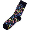 neon colors slot machine bar symbols on these las vegas socks