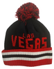 adult size red toboggan with puff and Las Vegas in black