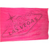 Las Vegas Beach Towel in Pink with Las Vegas Sign muted in Gray
