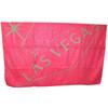 Las Vegas Travel Blanket Souvenir in Pink with Las Vega Sign in Gray