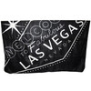 Las Vegas Travel Blanket Souvenir in Black with Las Vega Sign in Gray