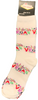 """White Las Vegas Sock with Words in a Colorful Font that says """"Las Vegas""""."""
