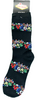 """Black Las Vegas Sock with Words in a Colorful Font that says """"Las Vegas""""."""