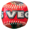 Bright Red Baseball with a white Las Vegas Lettering.