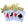 Metal Las Vegas 4 Aces Cards shaped Lapel Pin.