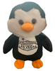 Front View of Plush Las Vegas Penguin with welcome sign embroidered on his tummy.