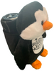 Side View of Plush Las Vegas Penguin with Child Blanket in Pouch.
