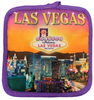 Square Oven Mitt Souvenir from Las Vegas with our Sunset Hues print design on it.