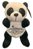 Front View of Black and White plush Las Vegas Panda with welcome sign embroidered on its tummy.