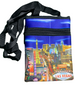 Blue background smaller disco purse with a Las Vegas City Icons and Casinos with an amazing view of the Strip overall.
